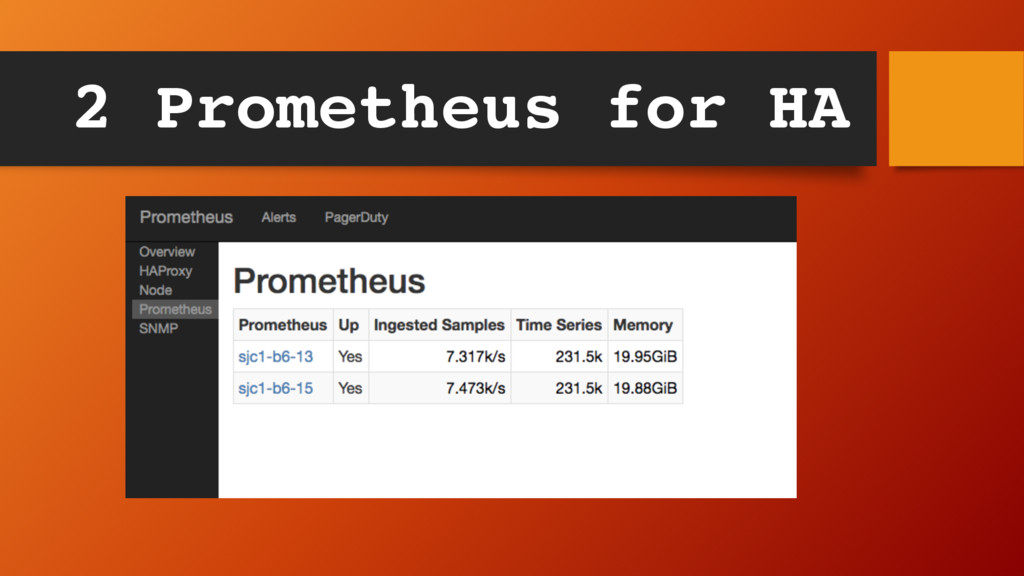 2 Prometheus for HA
