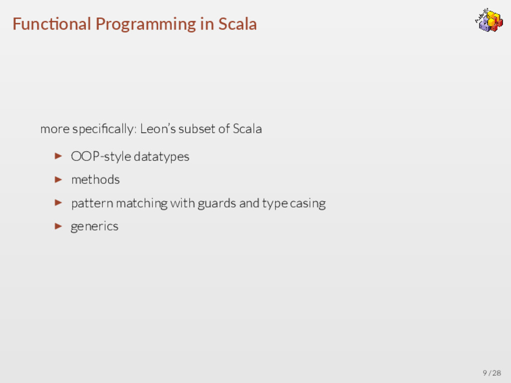 Func onal Programming in Scala more specifically...