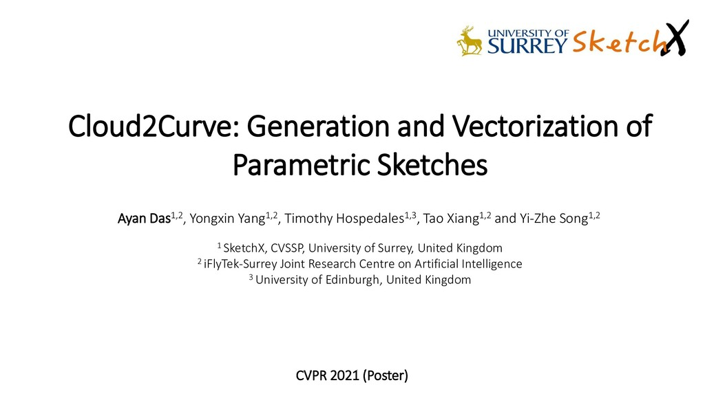 Cloud2Curve: Generation and Vectorization of Pa...