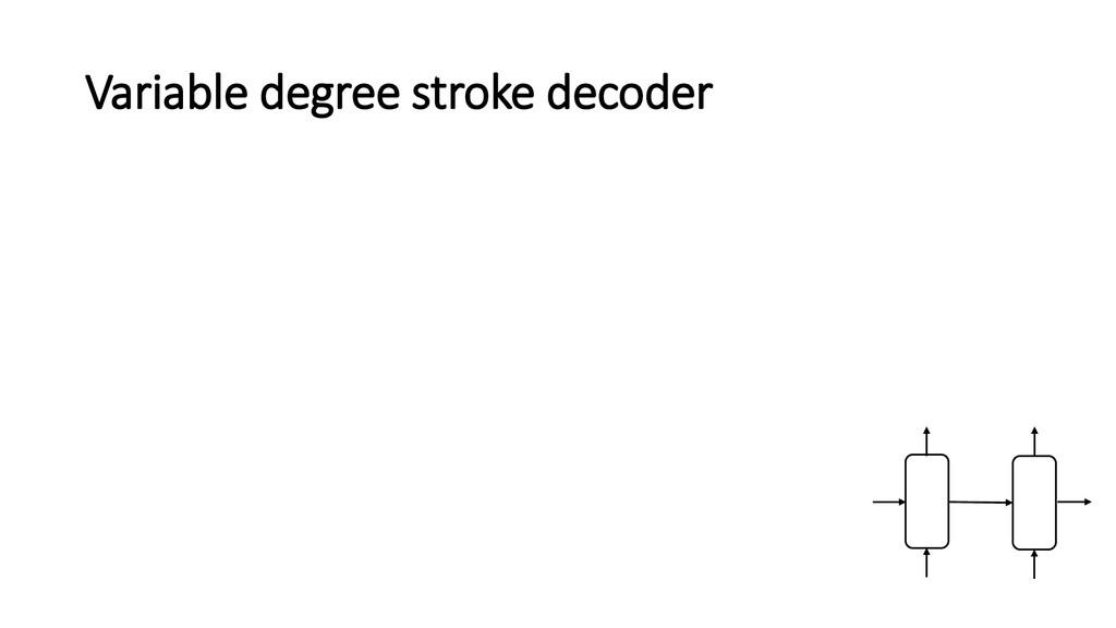 Variable degree stroke decoder