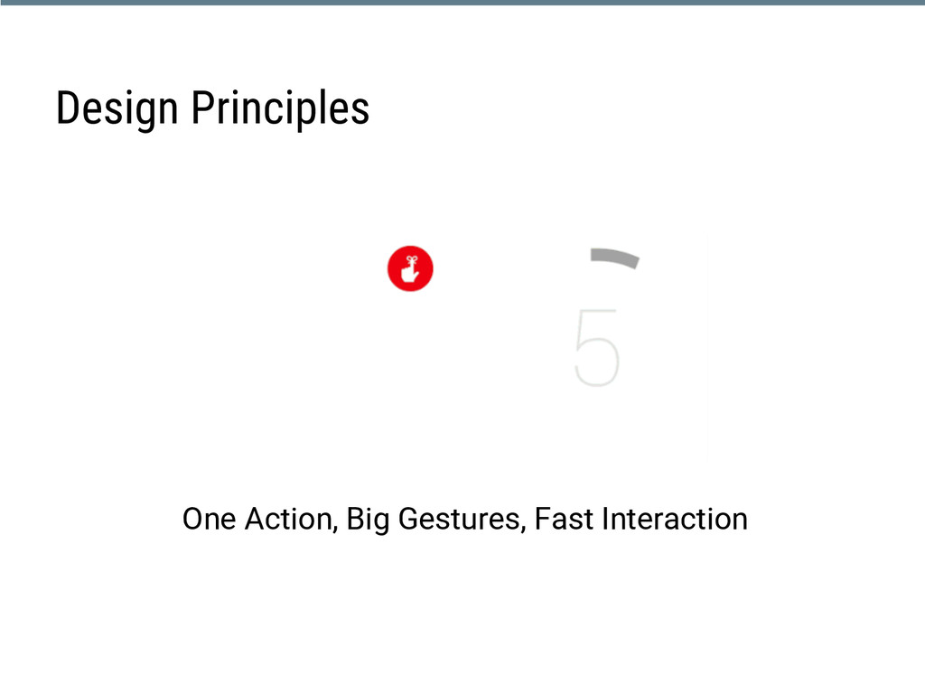 One Action, Big Gestures, Fast Interaction Desi...