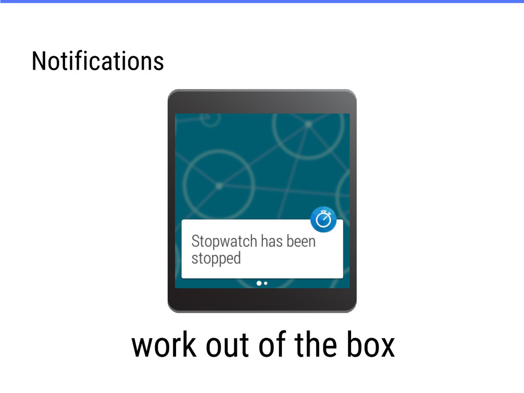 Notifications work out of the box