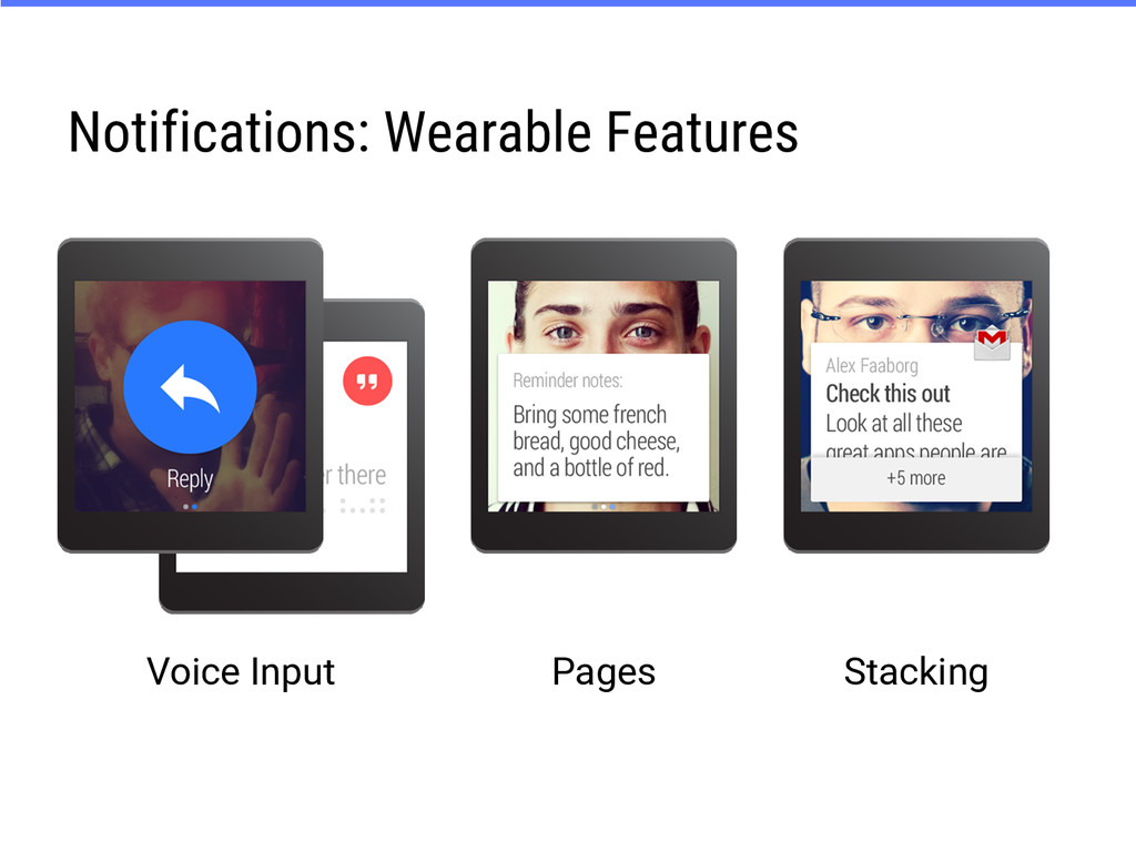 Notifications: Wearable Features Voice Input St...