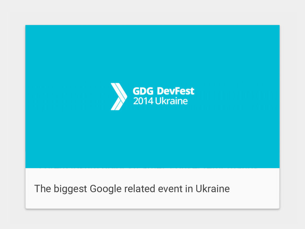 The biggest Google related event in Ukraine