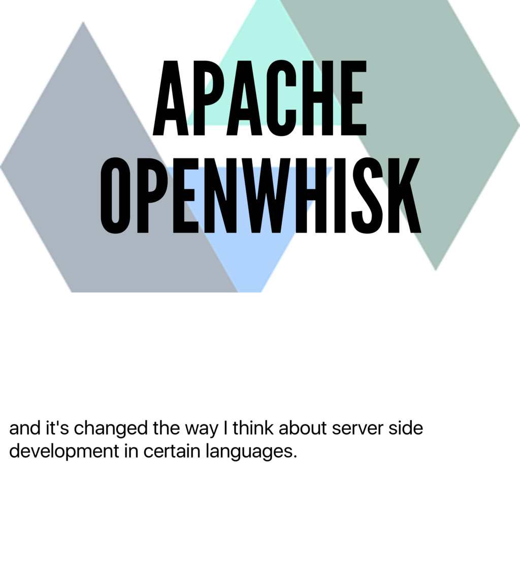 and it's changed the way I think about server s...