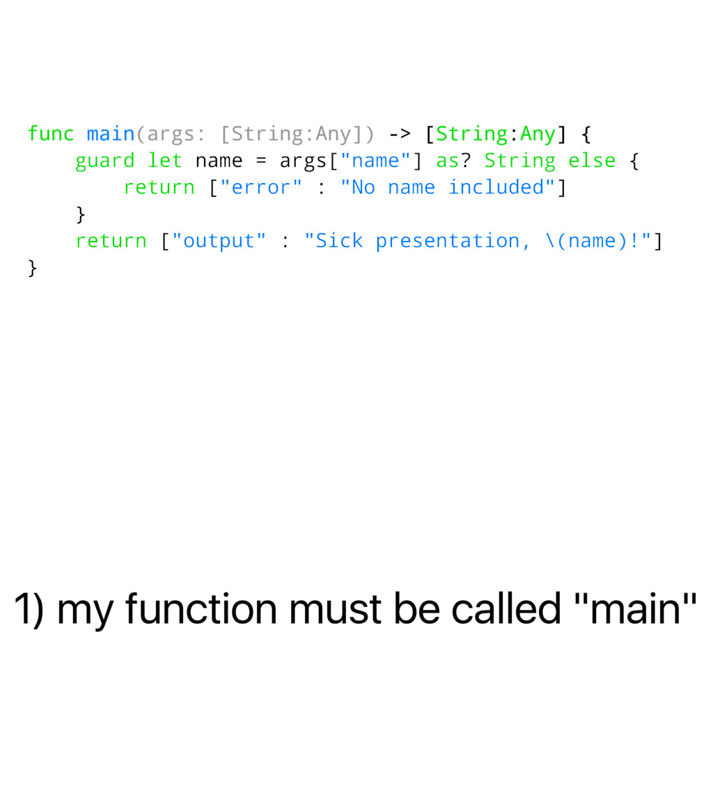 "1) my function must be called ""main"" func main(..."