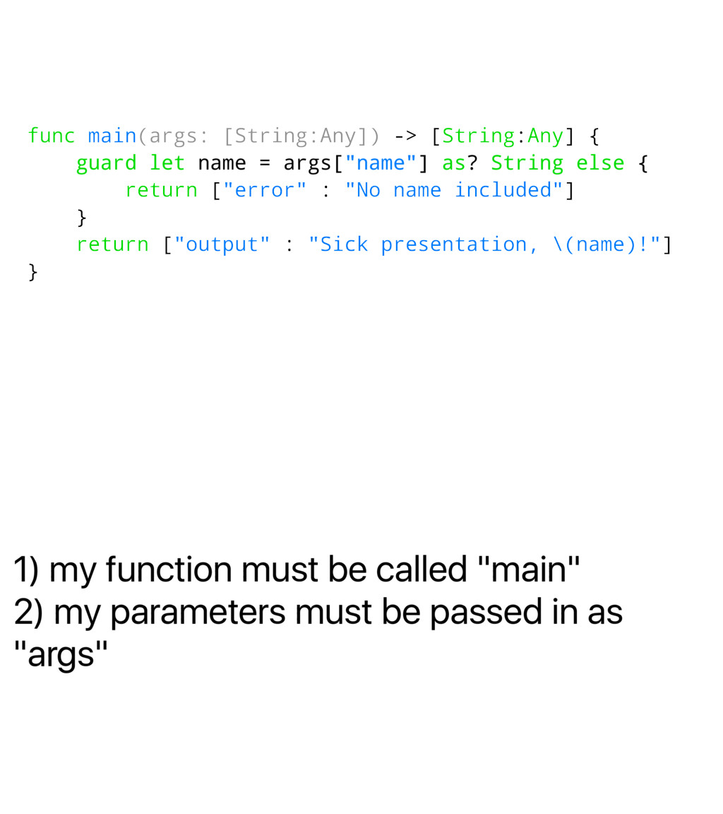 "1) my function must be called ""main"" 2) my para..."