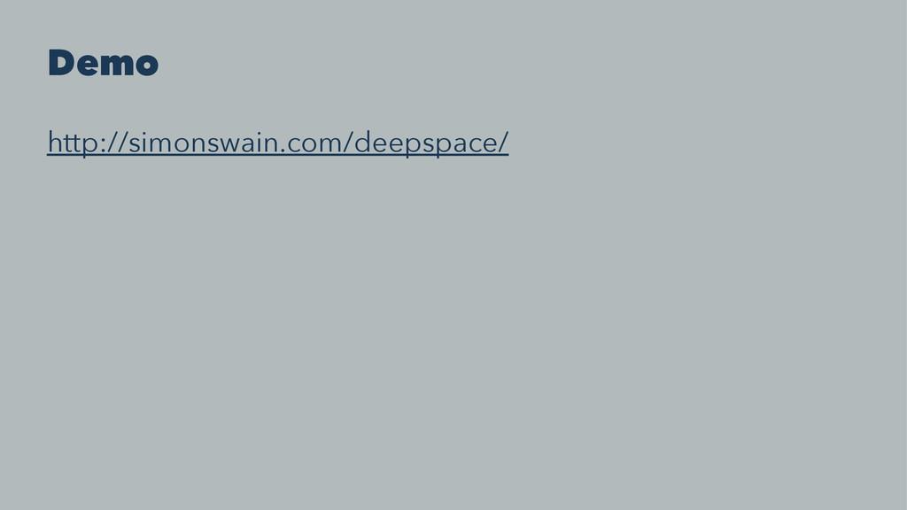 Demo http://simonswain.com/deepspace/