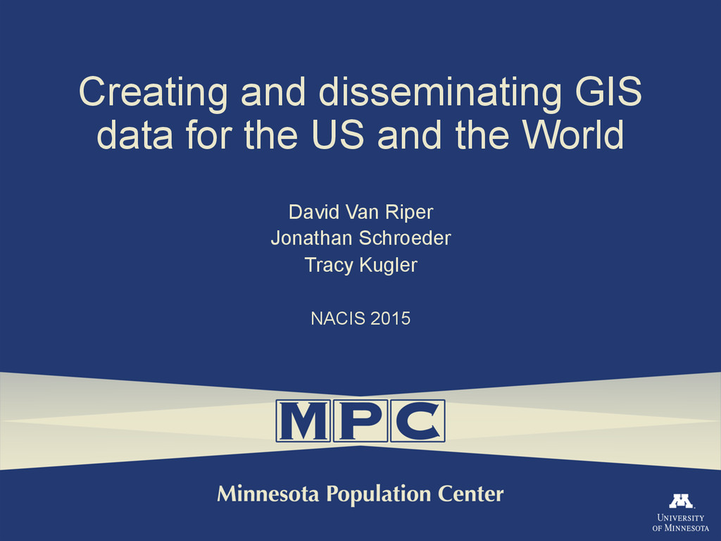 Creating and disseminating GIS data for the US ...