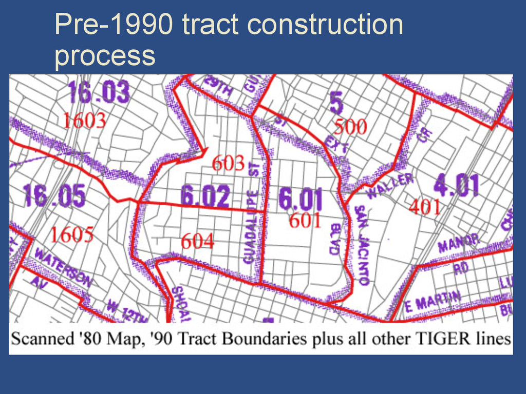 Pre-1990 tract construction process