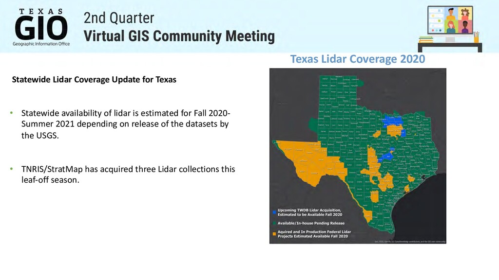Texas Lidar Coverage 2020 Statewide Lidar Cover...