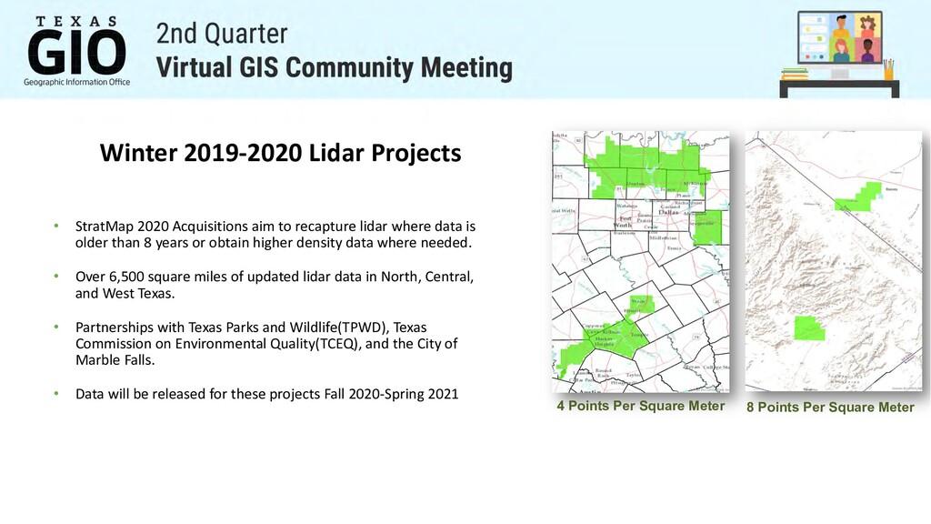 Winter 2019-2020 Lidar Projects • StratMap 2020...