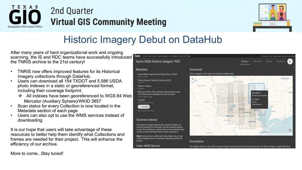 Historic Imagery Debut on DataHub After many ye...