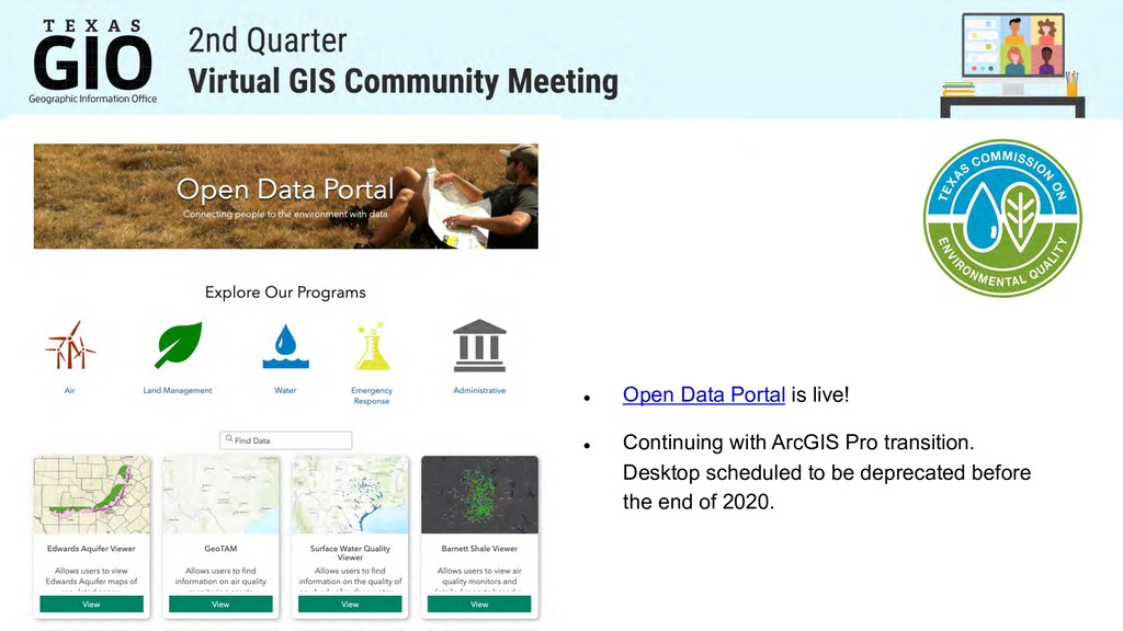 l Open Data Portal is live! l Continuing with A...