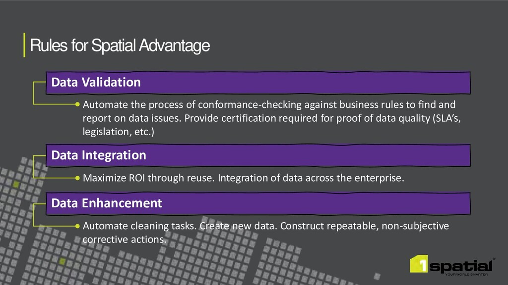 Rules for Spatial Advantage Data Validation Dat...