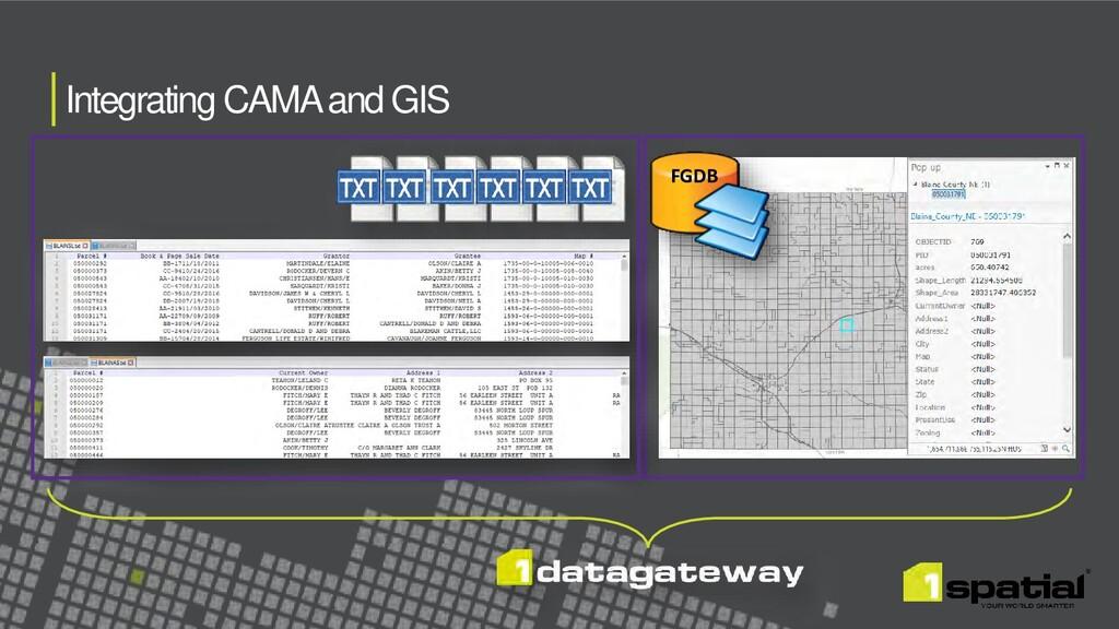 Integrating CAMA and GIS FGDB