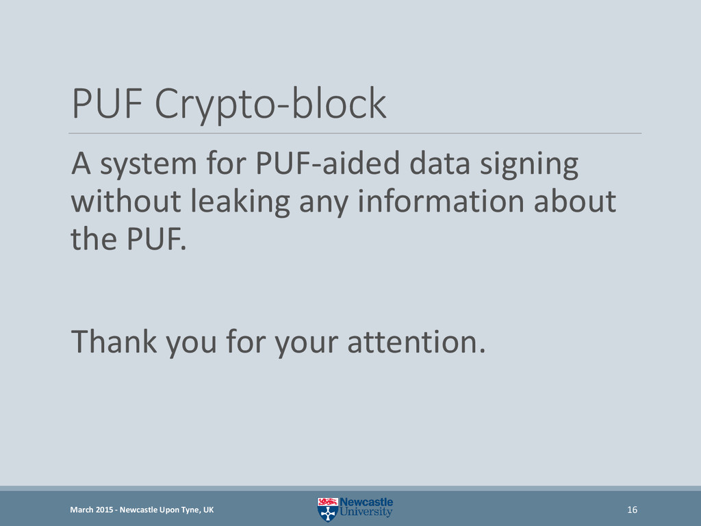 PUF Crypto-block A system for PUF-aided data si...