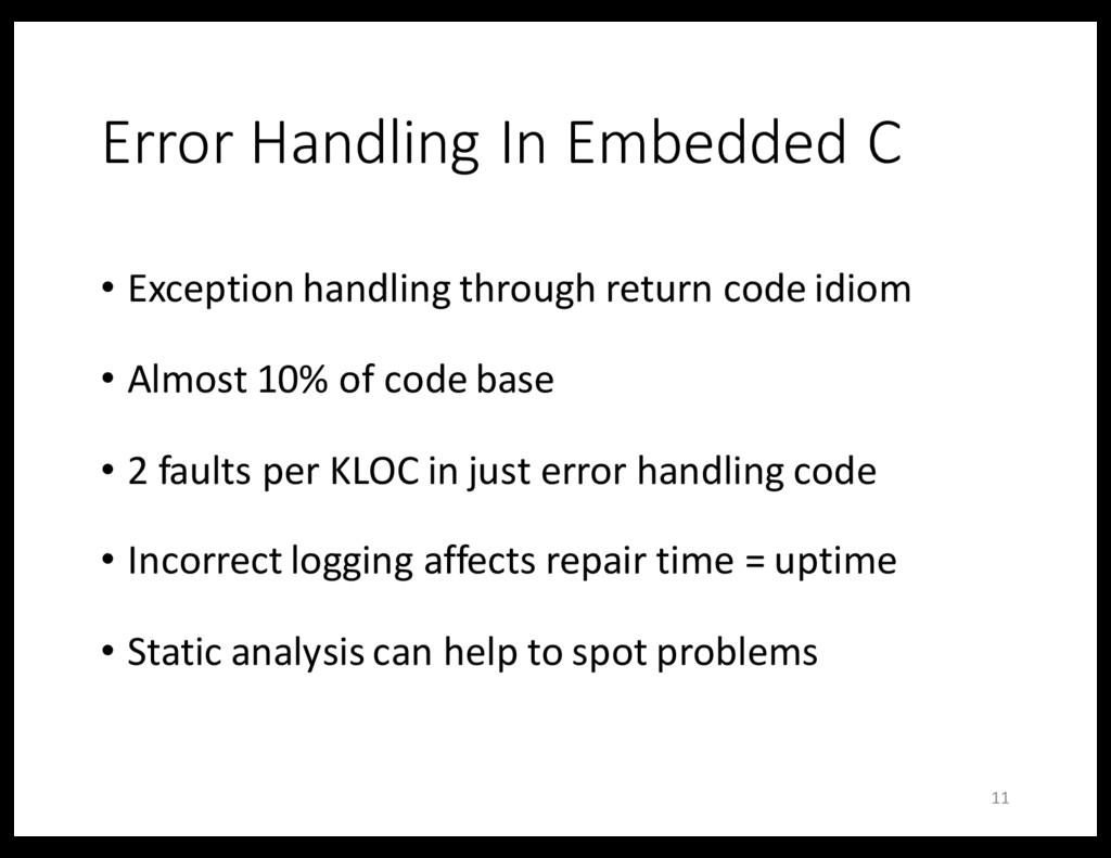 Error Handling In Embedded C • Exception handli...