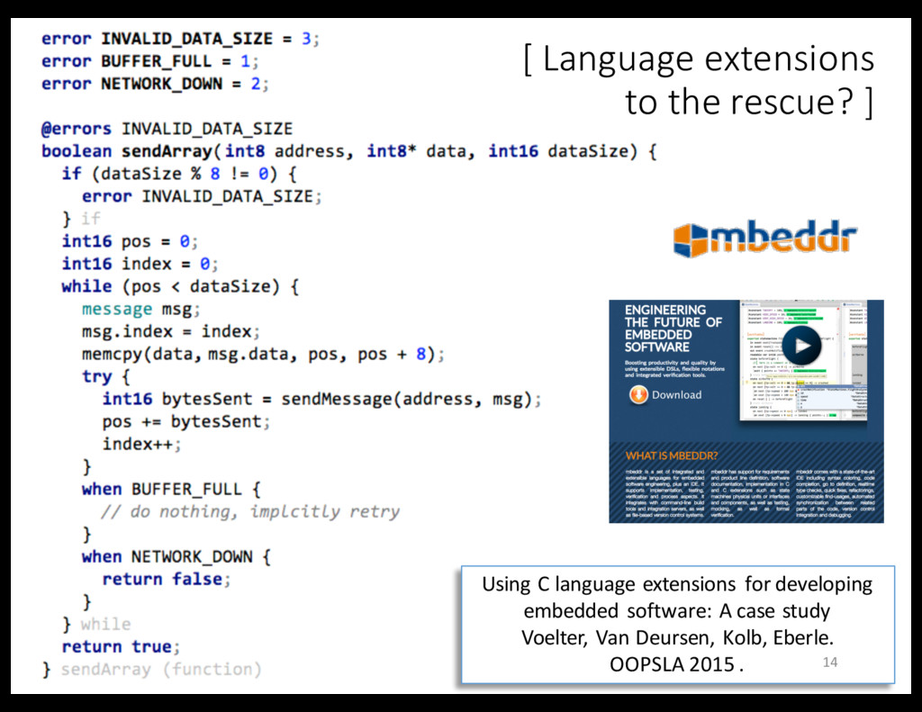 Using C language extensions for developing embe...