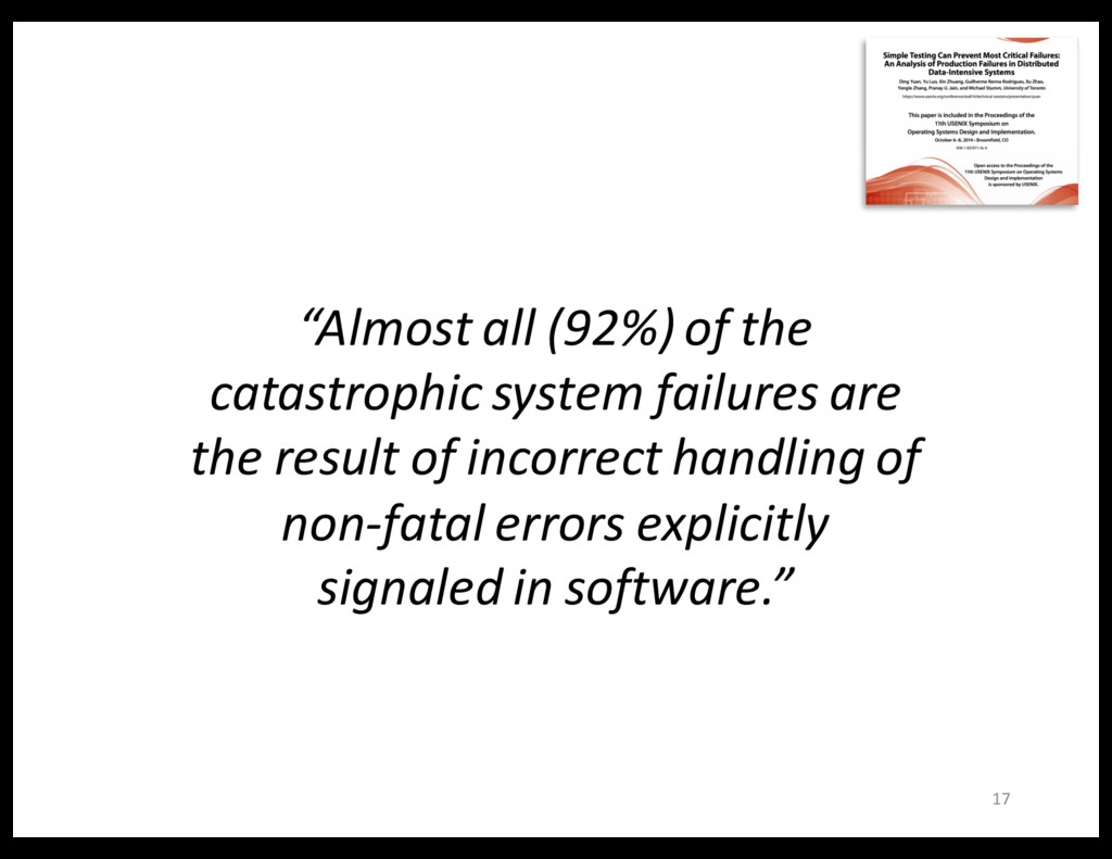 """17 """"Almost all (92%) of the catastrophic system..."""