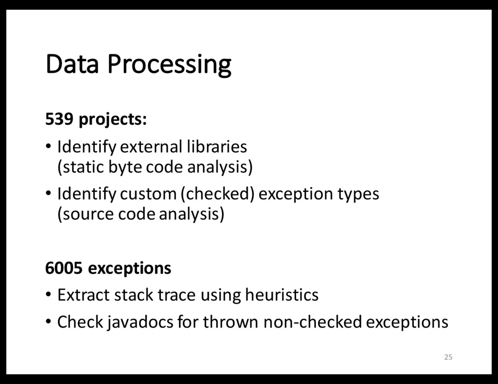 Data Processing 539 projects: • Identify extern...