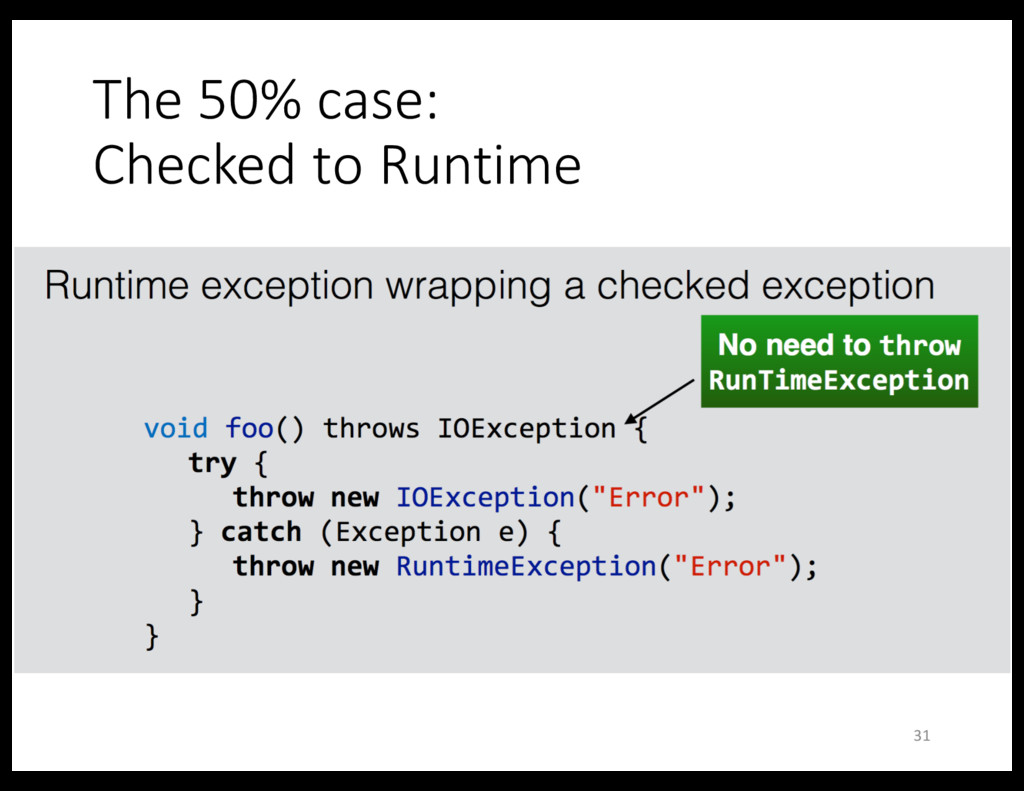The 50% case: Checked to Runtime 31