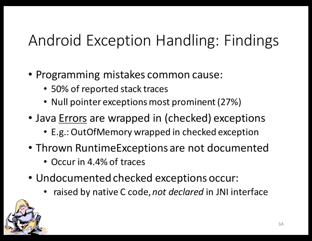 Android Exception Handling: Findings • Programm...