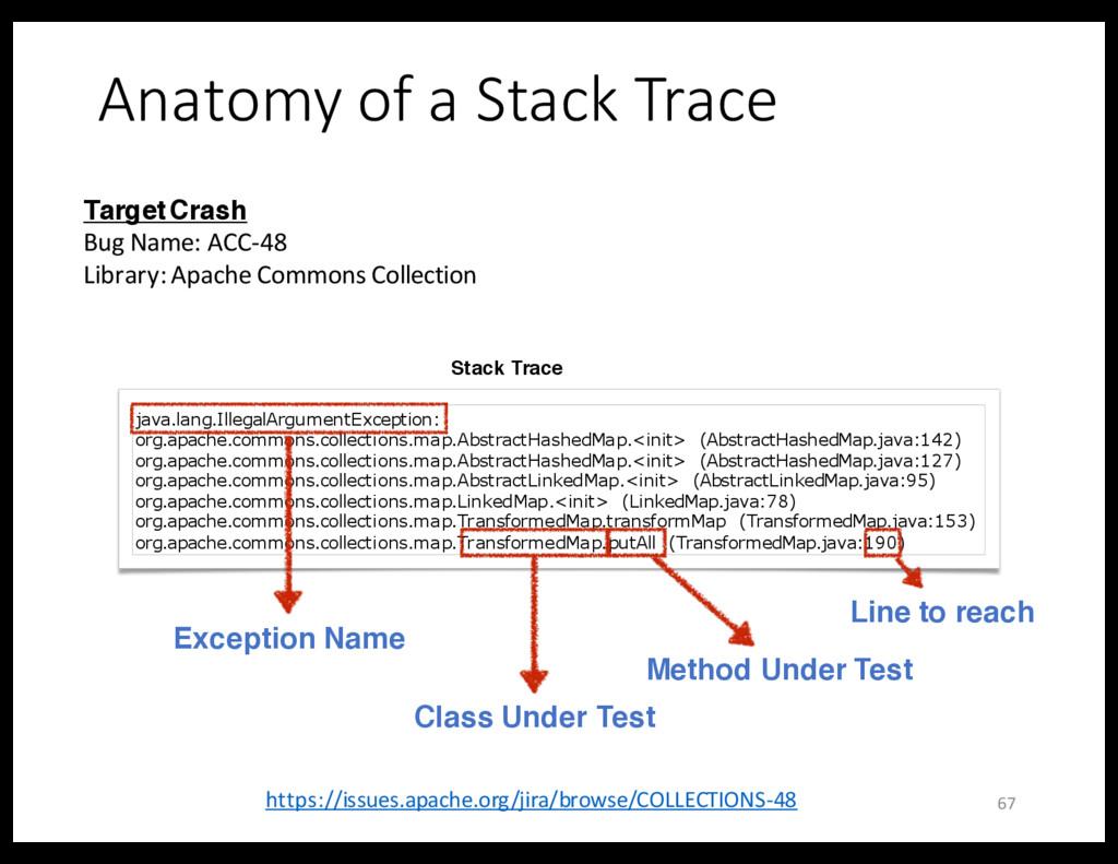 Anatomy of a Stack Trace Target Crash Bug Name:...