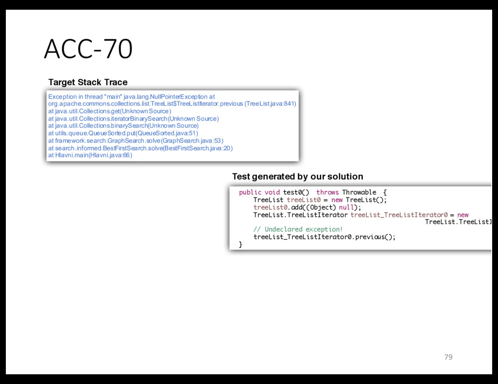 """ACC-70 Exception in thread """"main"""" java.lang.Nul..."""