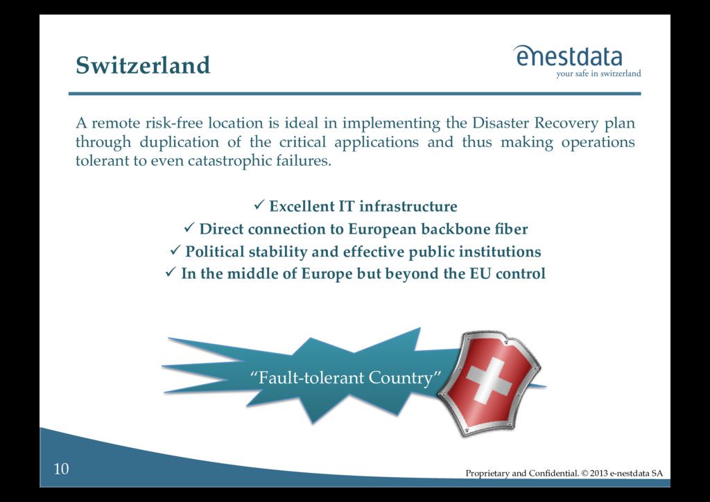 Proprietary and Confidential. © 2013 e-nestdata ...