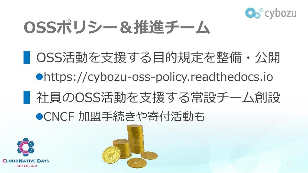 OSSポリシー&推進チーム ▌OSS活動を支援する目的規定を整備・公開 ⚫https://cy...