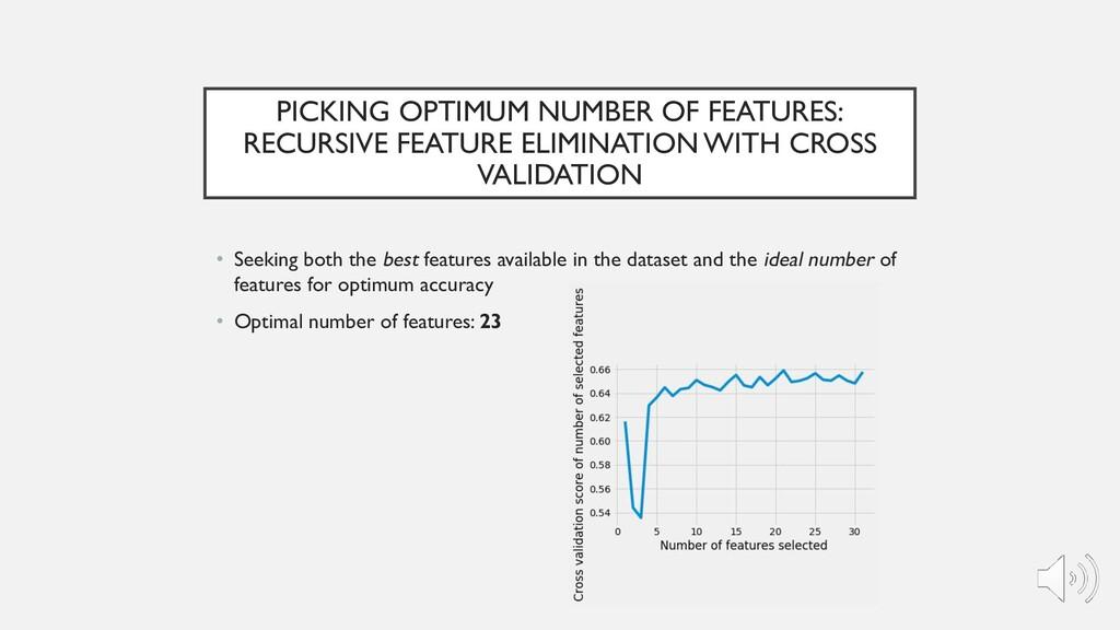PICKING OPTIMUM NUMBER OF FEATURES: RECURSIVE F...