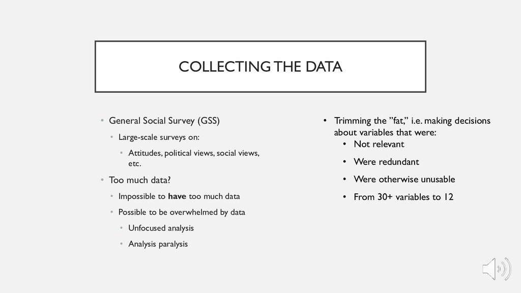 COLLECTING THE DATA • General Social Survey (GS...