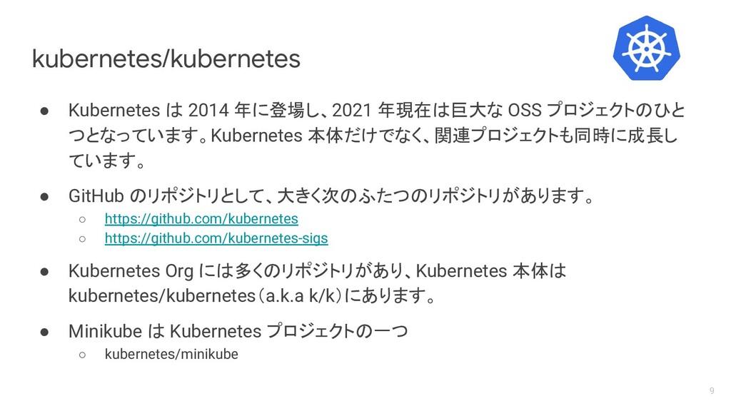 kubernetes/kubernetes ● Kubernetes は 2014 年に登場し...