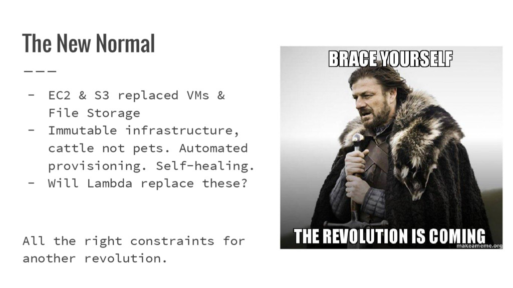 The New Normal - EC2 & S3 replaced VMs & File S...