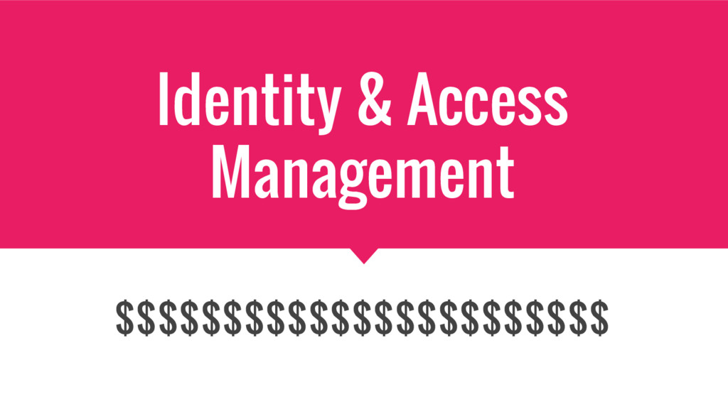 Identity & Access Management $$$$$$$$$$$$$$$$$$...