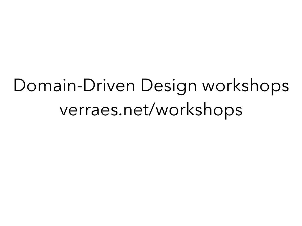 Domain-Driven Design workshops verraes.net/work...