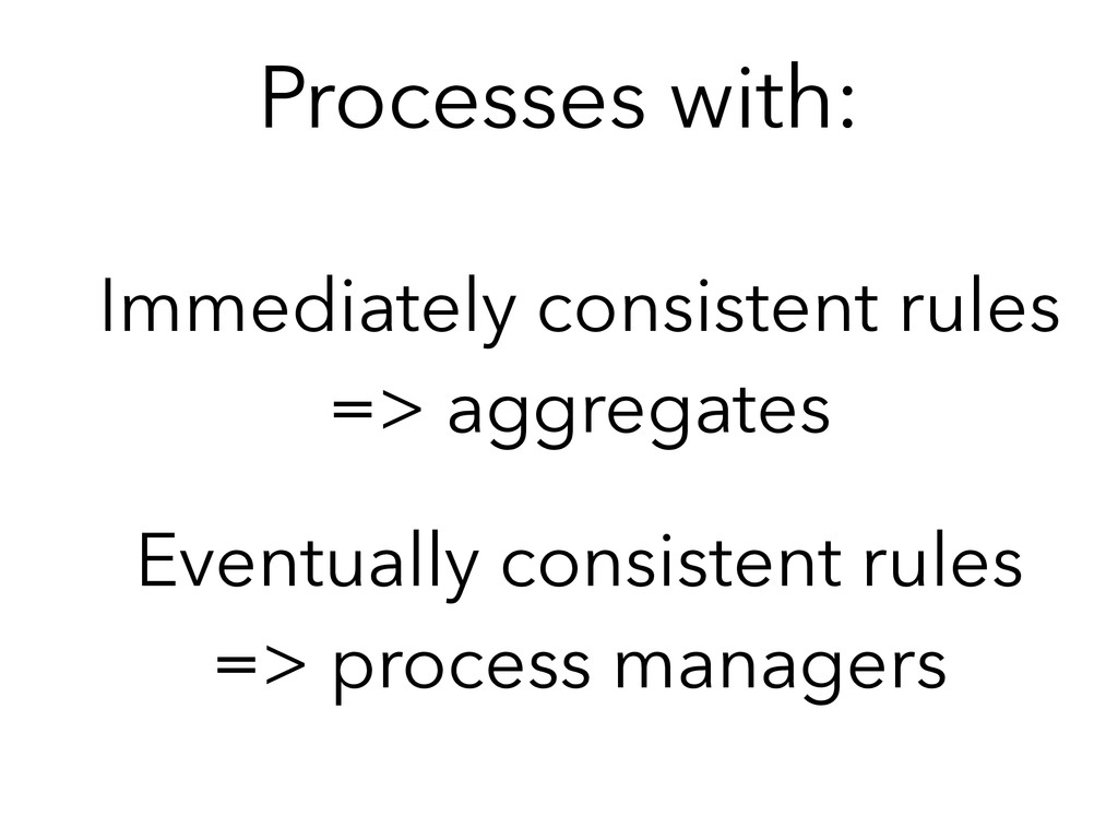 Processes with: Immediately consistent rules =>...