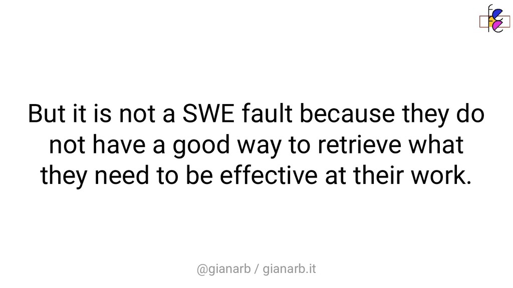 @gianarb / gianarb.it But it is not a SWE fault...