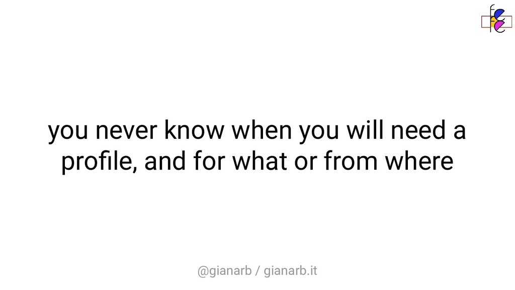 @gianarb / gianarb.it you never know when you w...