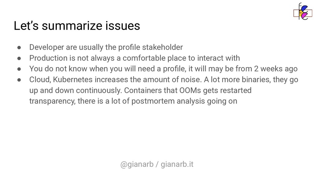 @gianarb / gianarb.it Let's summarize issues ● ...