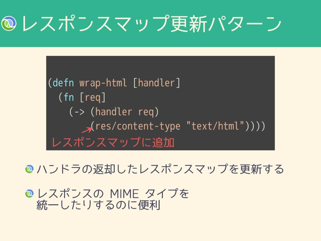 (defn wrap-html [handler] (fn [req] (-> (handle...