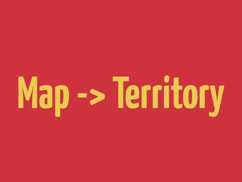 Map -> Territory