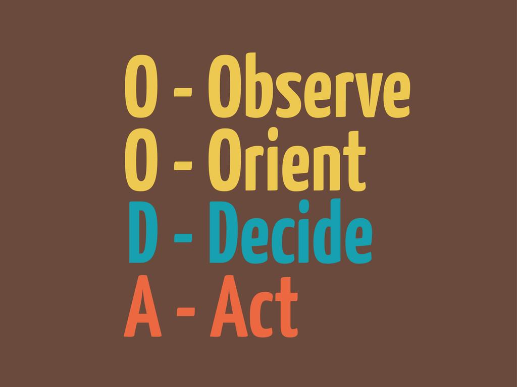 A - Act D - Decide O - Orient O - Observe