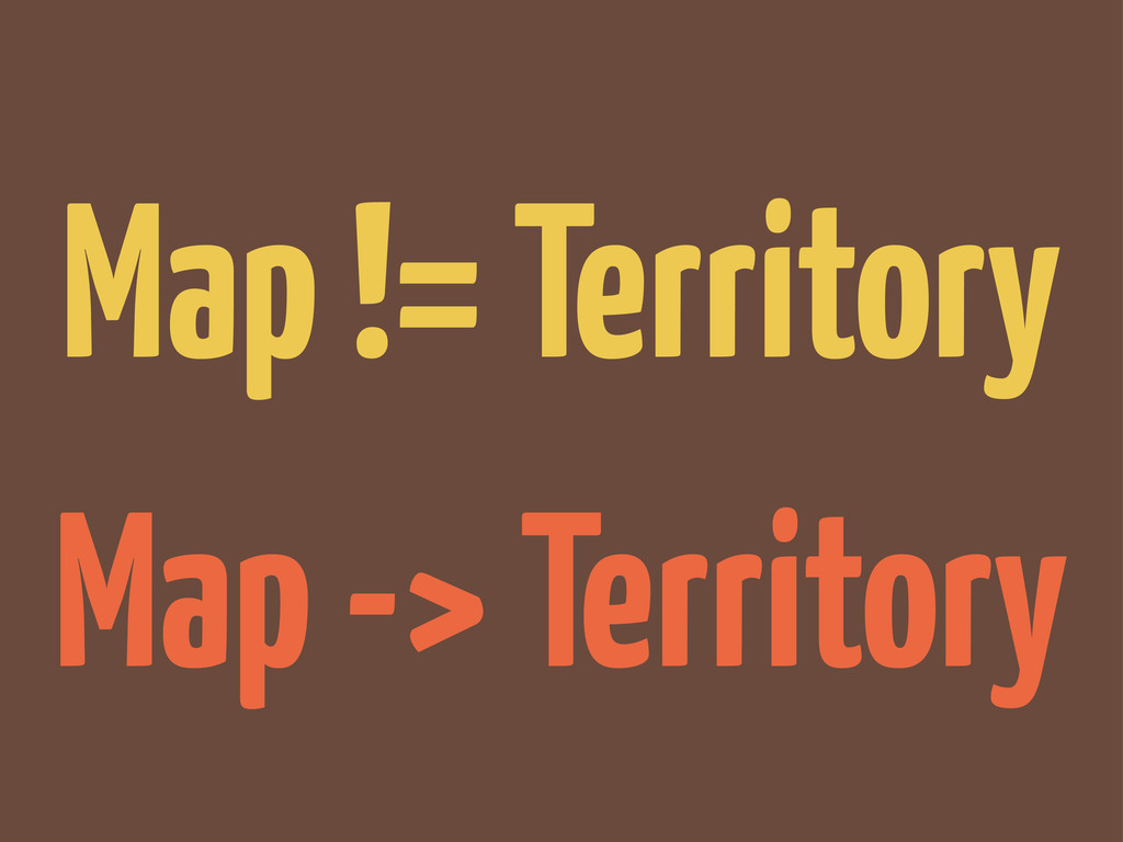Map != Territory Map -> Territory