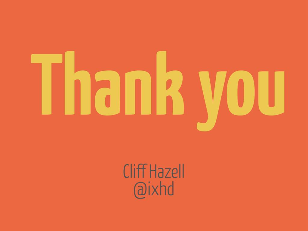 Thank you @ixhd Cliff Hazell