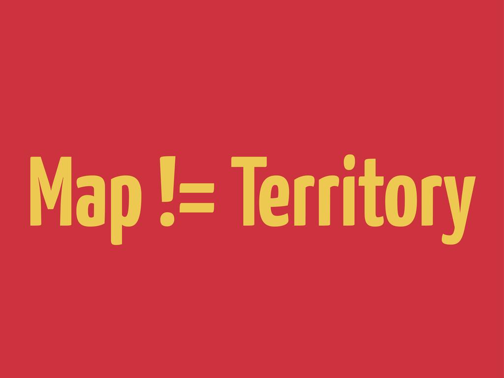 Map != Territory
