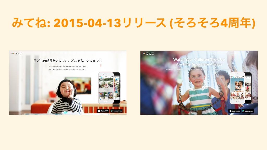 ΈͯͶ: 2015-04-13ϦϦʔε (ͦΖͦΖ4प)