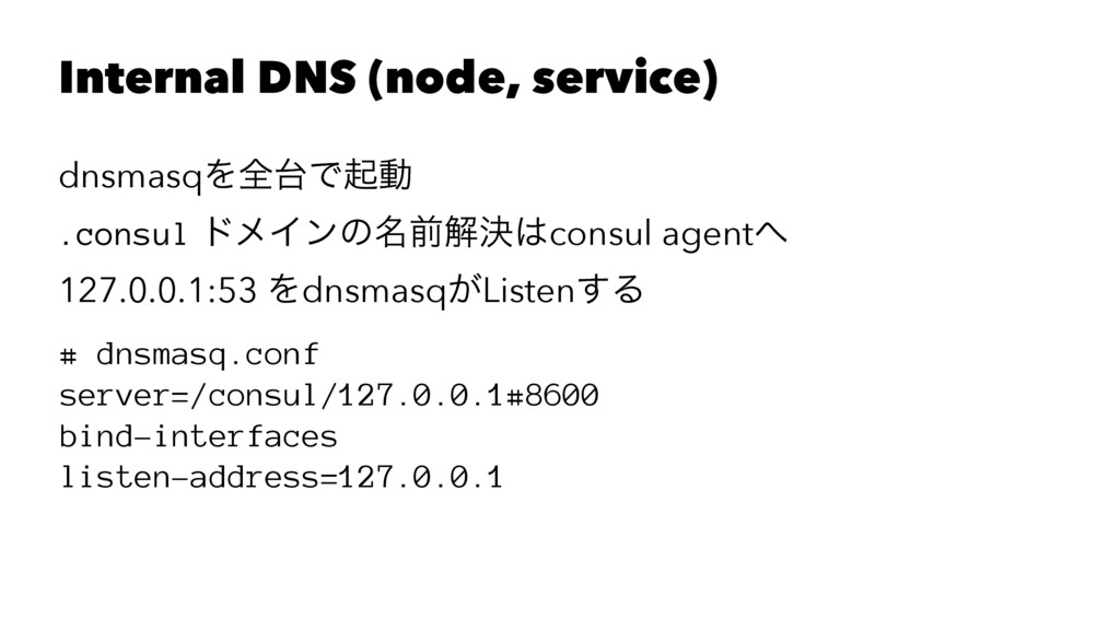 Internal DNS (node, service) dnsmasqΛશ୆Ͱىಈ .con...