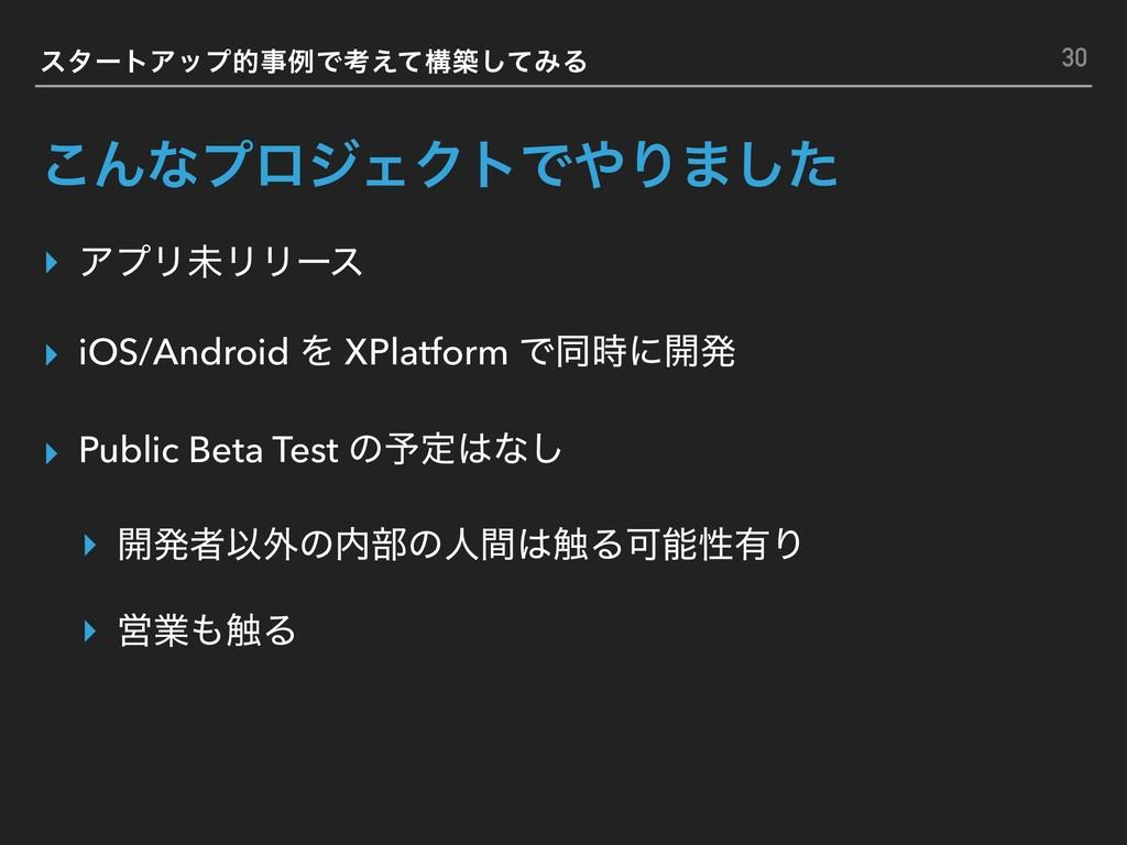͜ΜͳϓϩδΣΫτͰΓ·ͨ͠ ▸ ΞϓϦະϦϦʔε ▸ iOS/Android Λ XPla...